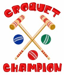 Croquet Champion embroidery design