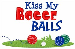 Bocce Ball Game embroidery design