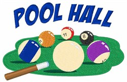 Pool Hall embroidery design