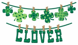 Clover Clothesline embroidery design