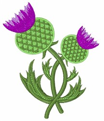 Thistle Flower embroidery design