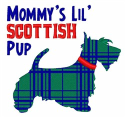 Scottish Pup embroidery design