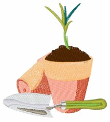 Potted Plant embroidery design