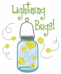 Lightning Bugs embroidery design