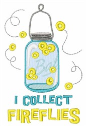 I Collect Fireflies embroidery design
