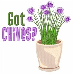 Got Chives embroidery design