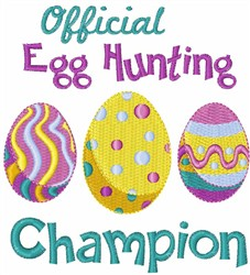 Easter Egg Champion embroidery design