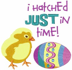 Hatched In Time embroidery design