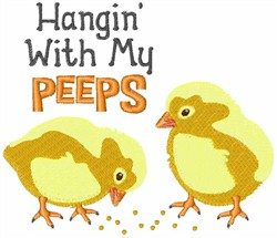 Hangin With Peeps embroidery design