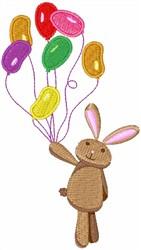 Bunny Balloons embroidery design