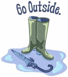 Go Outside embroidery design