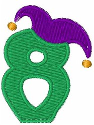 Jester Hat 8 embroidery design