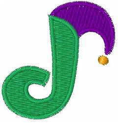 Jester Hat J embroidery design