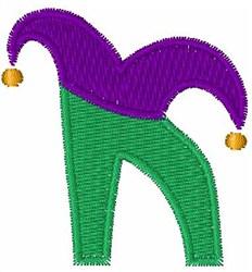 Jester Hat K embroidery design
