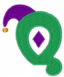 Jester Hat Q embroidery design