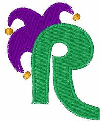 Jester Hat R embroidery design
