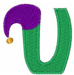 Jester Hat U embroidery design