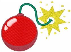 Cherry Bomb Firework embroidery design