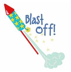 Blast Off! embroidery design