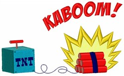 TNT Kaboom embroidery design