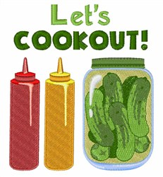 Lets Cookout! embroidery design