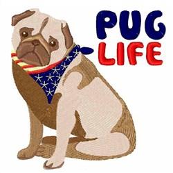 Pug Life embroidery design