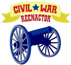 Civil War Reenactor embroidery design