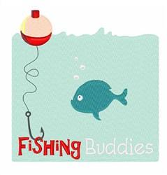 Fishing Buddies embroidery design