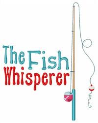 Fish Whisperer embroidery design