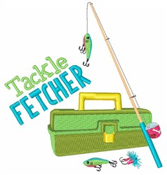 Tackle Fetcher embroidery design