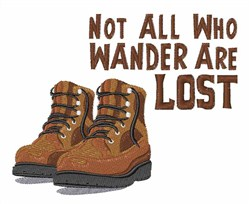 Wander Lost embroidery design