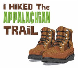 Hiked The Appalachian embroidery design