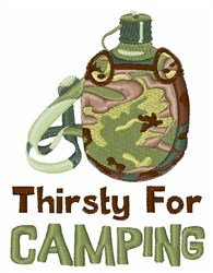 Thirsty For Camping embroidery design