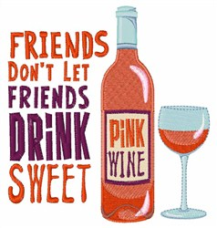 Sweet Pink Wine embroidery design