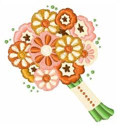 Wedding Bouquet embroidery design