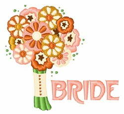Bride Bouquet embroidery design