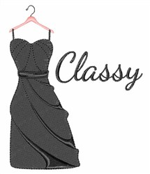 Classy Dress embroidery design