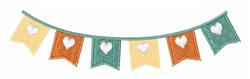 Wedding Flags embroidery design