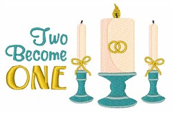 Two Become One embroidery design