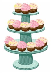 Tiered Cupcakes embroidery design