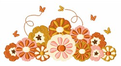Butterflies & Flowers embroidery design