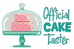 Official Cake Taster embroidery design