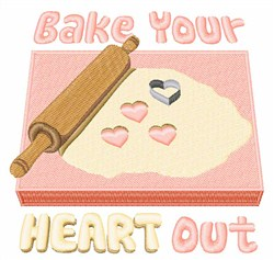 Bake Your Heart Out embroidery design