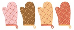 Oven Mitts embroidery design
