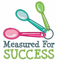 Measured for Success embroidery design