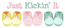 Just Kickin It embroidery design