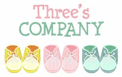 Threes Company embroidery design