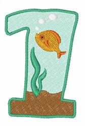 Fish Tank Font 1 embroidery design