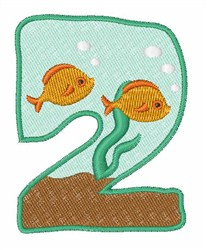 Fish Tank Font 2 embroidery design