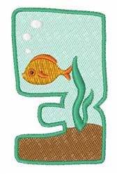 Fish Tank Font 3 embroidery design